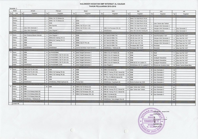 Kaldik SMP Semester 2 1617