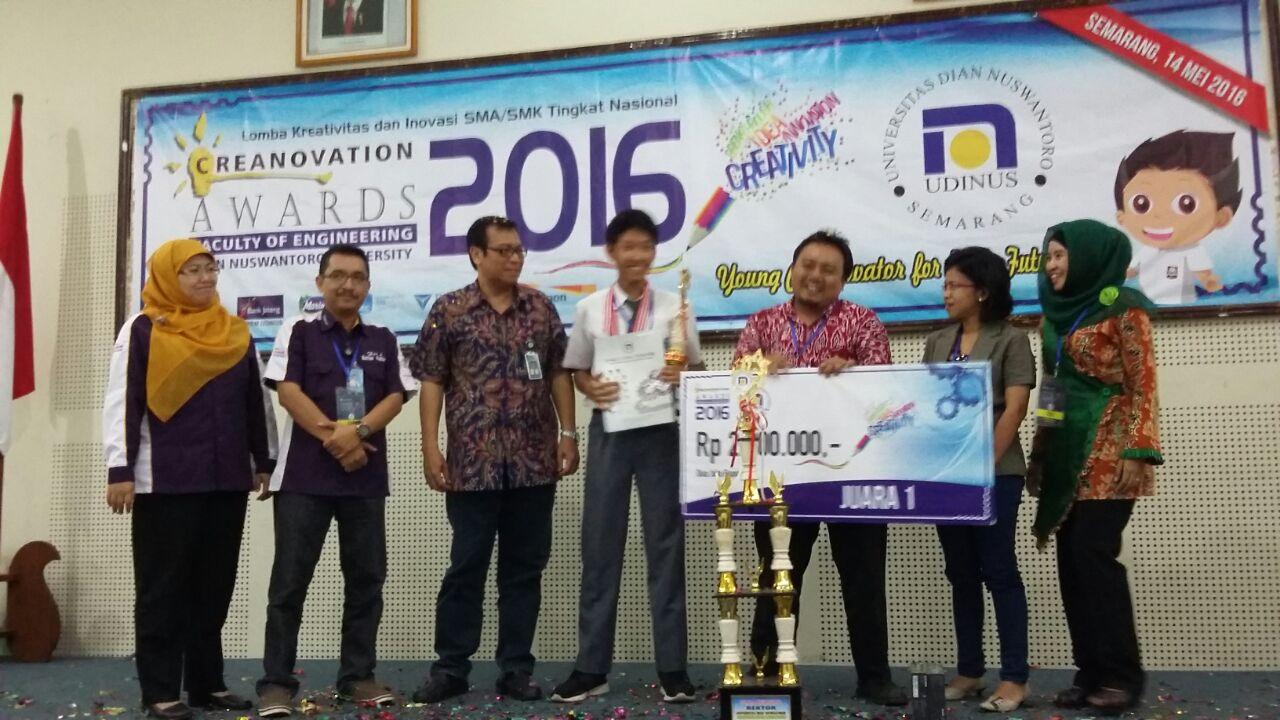 Adam Juara 1 dan Umum di Creanovation Awards